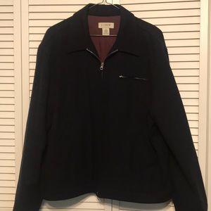 J. Crew Black Wool Zip Up Coat Size XL